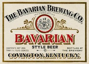 Bavarian Beer Label, Bavarian Brewing Co., Covington, KY c. 1900.