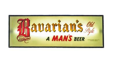 Bavarian's Old Style Beer White Background Backlit Sign, Bavarian Brewing Co., Covington, KY.