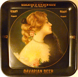 Souvenir Tray for the Dedication of the Bavarian Brewing Co. Brew House, Covington, KY 1912.