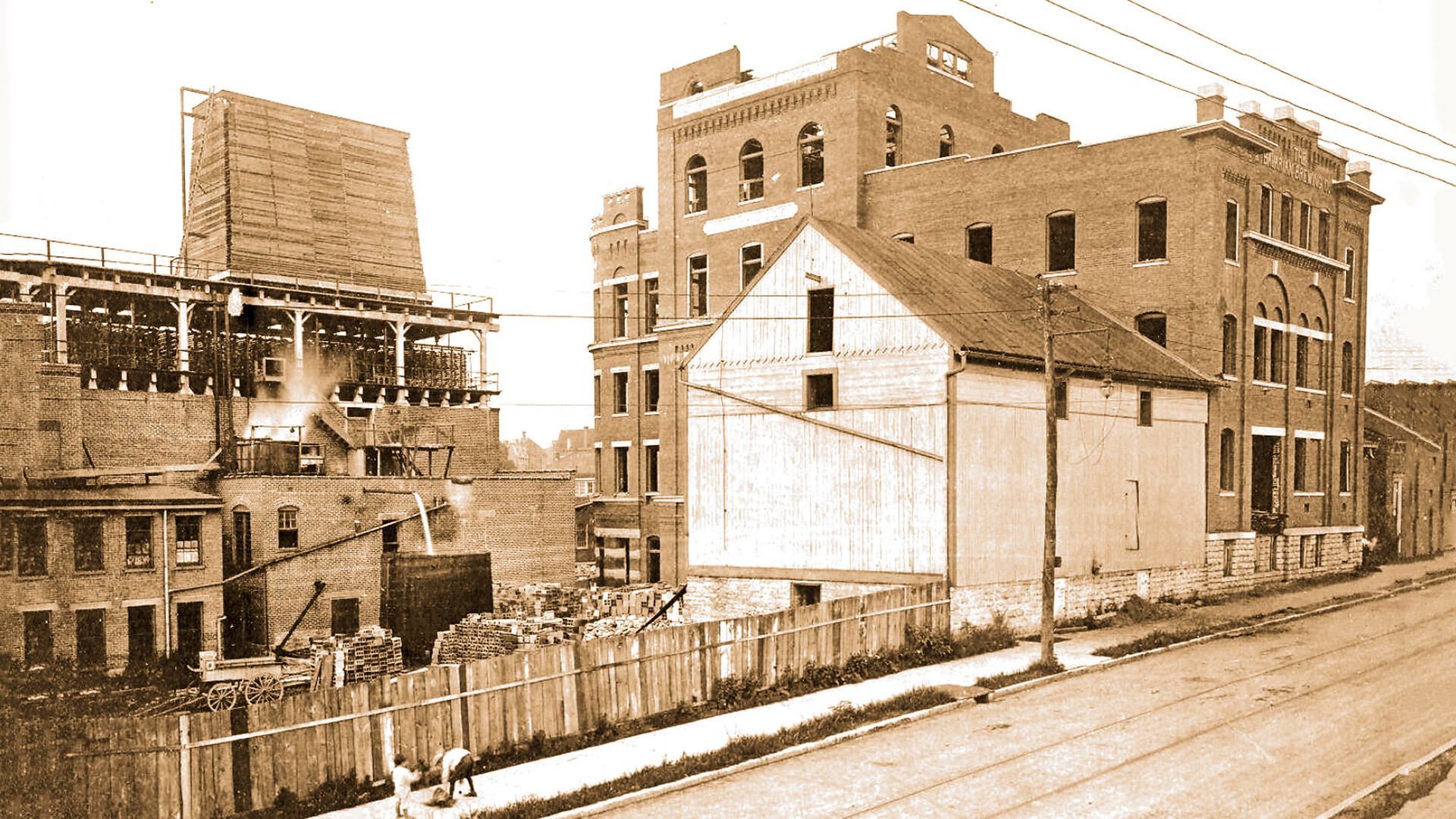 Brewery Buildings from 12th Street Bavarian Brewing Co., Covington, KY, in 1911.