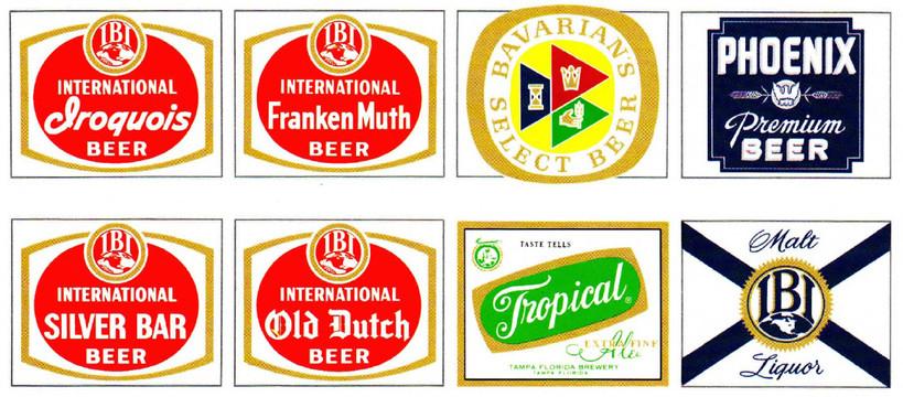 International Breweries Inc. (IBI) Brands, 1961.