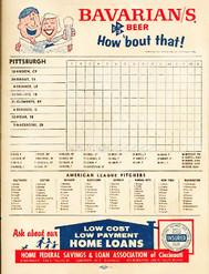 reds-pirates-1960-mlb-scorecard-games -C