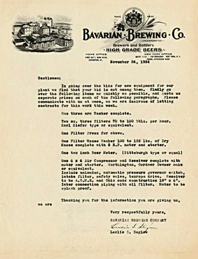 1934 Bavarian Letterhead Leslie Deglow.j