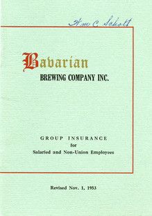 Group Insurance Plan, Bavarian Brewing Co., 1953