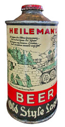 Heilemans Old Style Lager Beer Cone Top, LaCrosse, WI