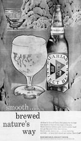 Brewed Nature's Way...Smooth Ad for Bavarian's Select Beer, Covington, KY
