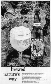 BAVARIAN'S SELECT BEER AD: Lively...brewed nature's way.