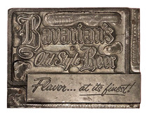 A Print Block (Mirror Image) for Bavarian's Old Style Beer, Bavarian Brewing Co., Covington, KY