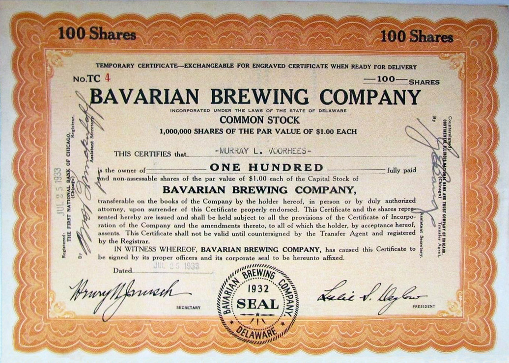 bavarian-brewing-company-1933-stock cert