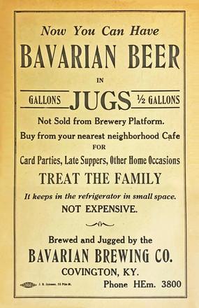 1940 Bavarian Beer Jug Ad