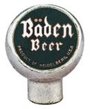 Baden Beer Tap Marker. Heidelberg Brewing Co., Covington, KY.