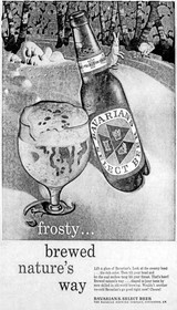 Brewed Nature's Way...Frosty Ad for Bavarian's Select Beer, Covington, KY
