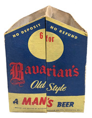 Bavairans Six-Bottle Carton, Bavarian's Old Style Beer, Covington, KY