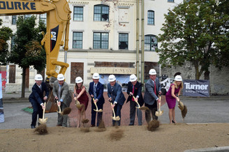 Groundbreaking for the Kenton Co. Government Center, Covington, KY.