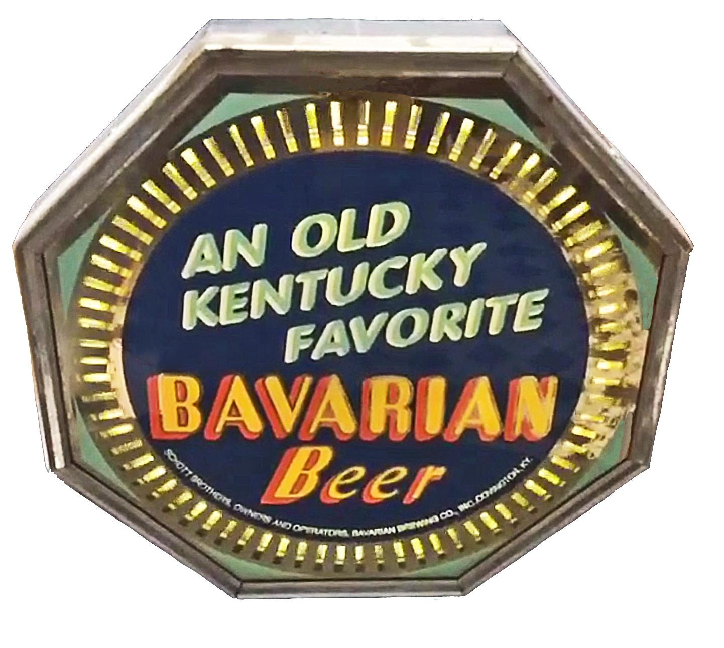 Bavarian Beer An Old KY Favorite Spinner Neon Sign, Covington, KY.
