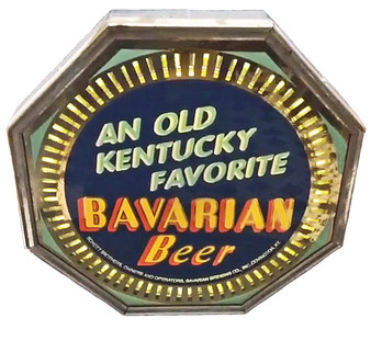Bavarian Beer An Old KY Favorite Spinner Neon Sign, Covington, KY.