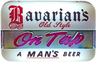 Bavarian's Old Style Beer 3-D Backlit Sign, Bavarian Brewing Co., Covington, KY.