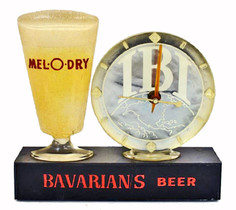 Mel-O-Dry Clock for Bavarian/s Select Beer from IBI