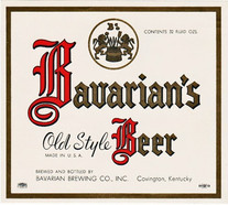Bavarian's Old Style 1 Qt. Beer Label.