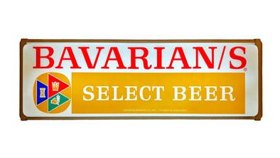 Bavarian/s Select Beer Backlit Sign, Bavarian Brewing Co., Covington, KY.