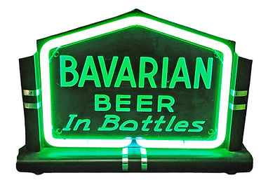 Bavarian Beer Neon In Bottles Sign, Covington, KY, Feb. 1937.