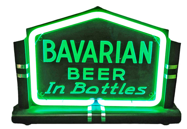 Bavarian Beer Neon Sign, Bavarian Brewing Co., Covington, KY. n - edite