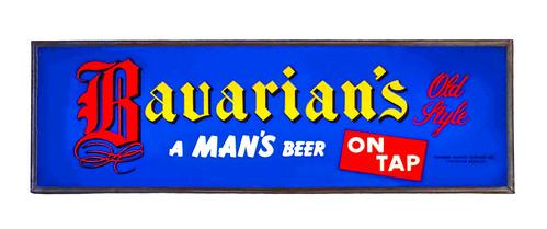 "Bavarian's Old Style Beer ""On Tap"" Blue Background Backlit Sign, Bavarian Brewing Co., Covington, KY."