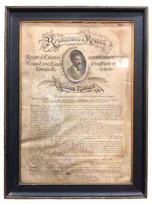 Wm Riedlin Resolution of Respect Knight