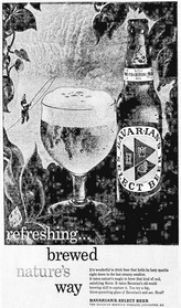 Brewed Nature's Way...Refreshing Ad for Bavarian's Select Beer, Covington, KY