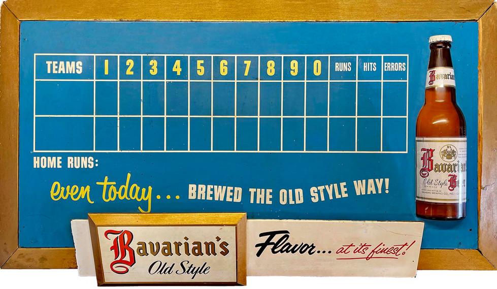 Baseball Scoreboard for Bavarian's Beer, Bavarian Brewing Co., Covington, KY
