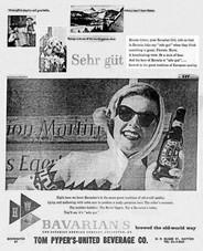 The BAVARIAN GIRL Sehr Güt Ad - for Bavarian's Select Beer.