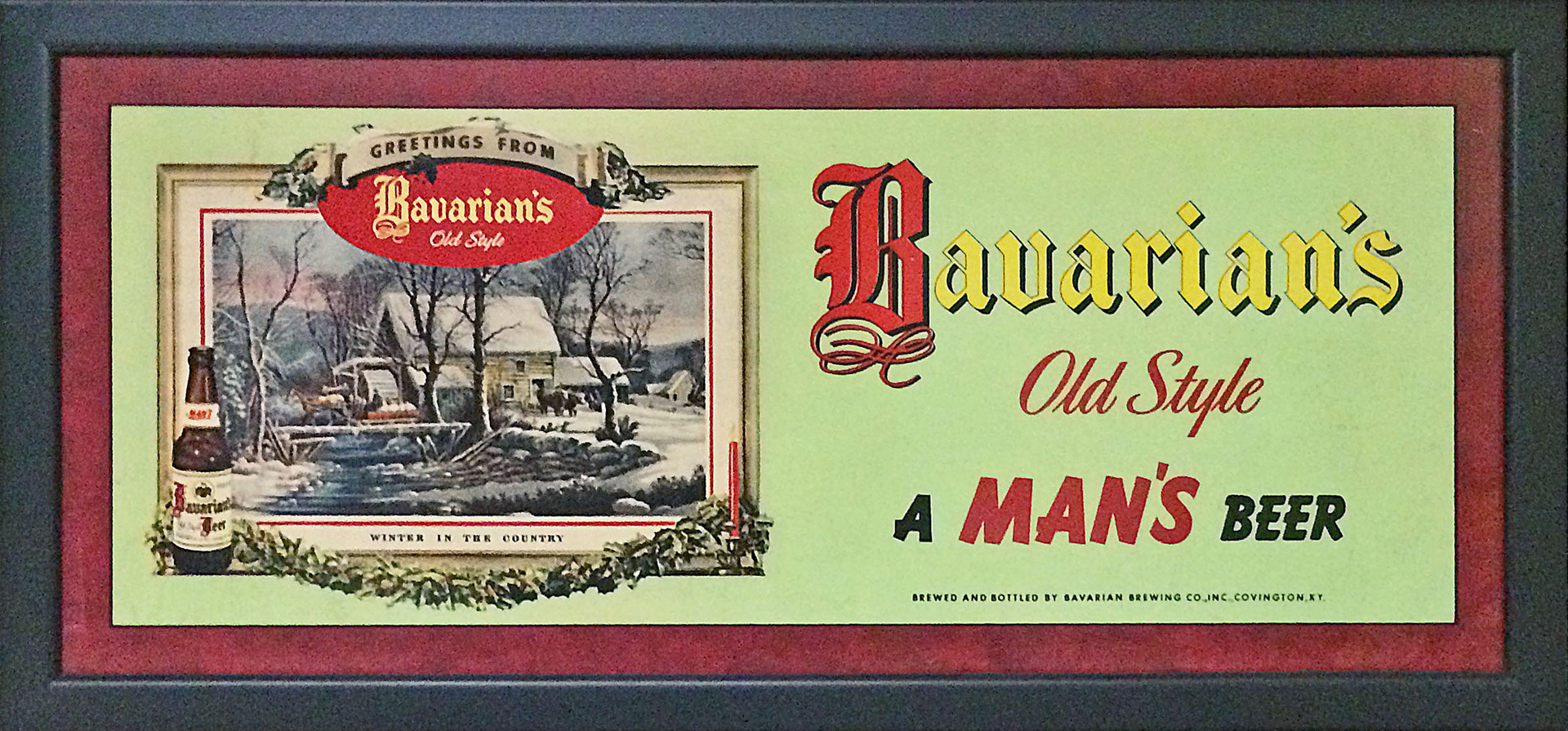 Bavarian's OS Xmas Sign - A Mans Beer1 F