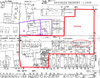 c. 1950 Site Plan of the Bavarian Brewery, Covington, KY