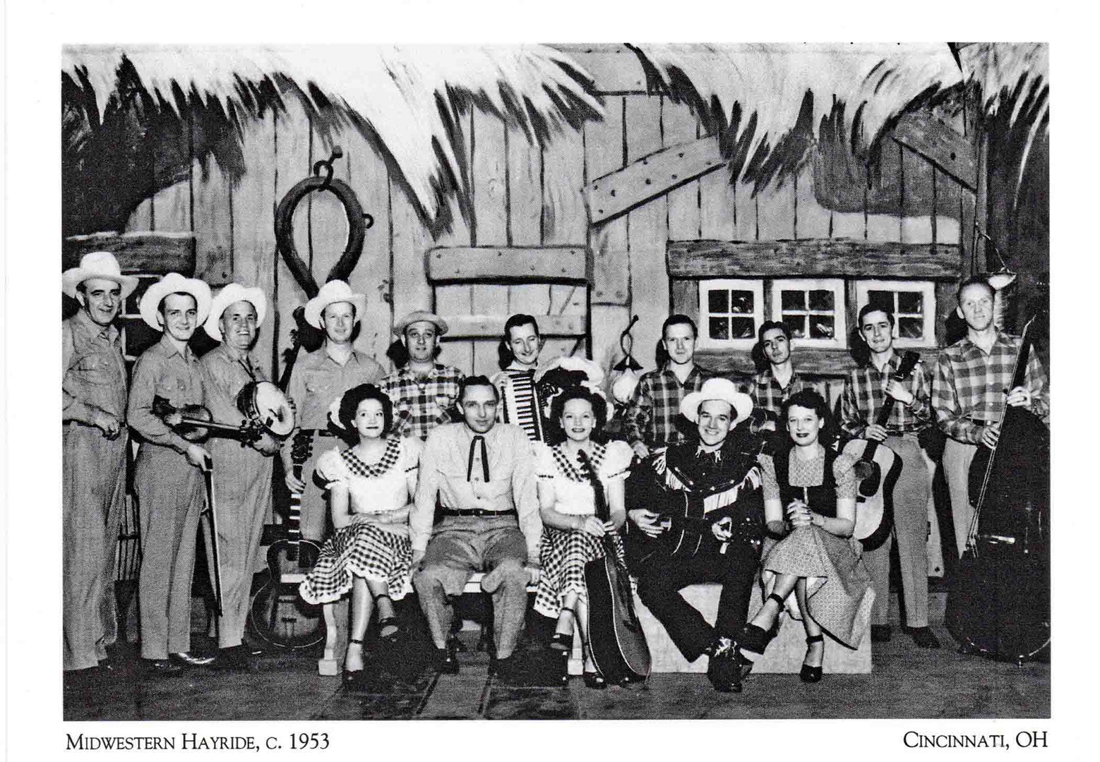 Midwestern Hayride Cast on a Postcard.