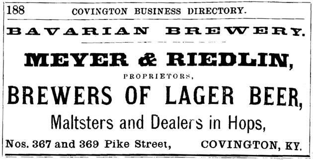 1884-5 Williams Bus. Directory for Covington, Ky