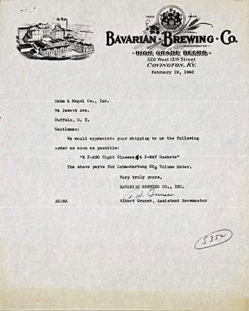 Bavarian Brewing Co. Albert Gruner Lette