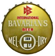 Mel-O-Dry Bottle Cap Calendar for Bavarian/s Select Beer from IBI