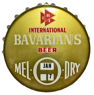 Bavarian's Beer Bottle Cap Calendar, Bavarian Brewing Co., Covington, KY