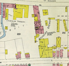 Riedlin-Meyer / Bavarian Brewery on the Sanborn Insurance Map in 1894.
