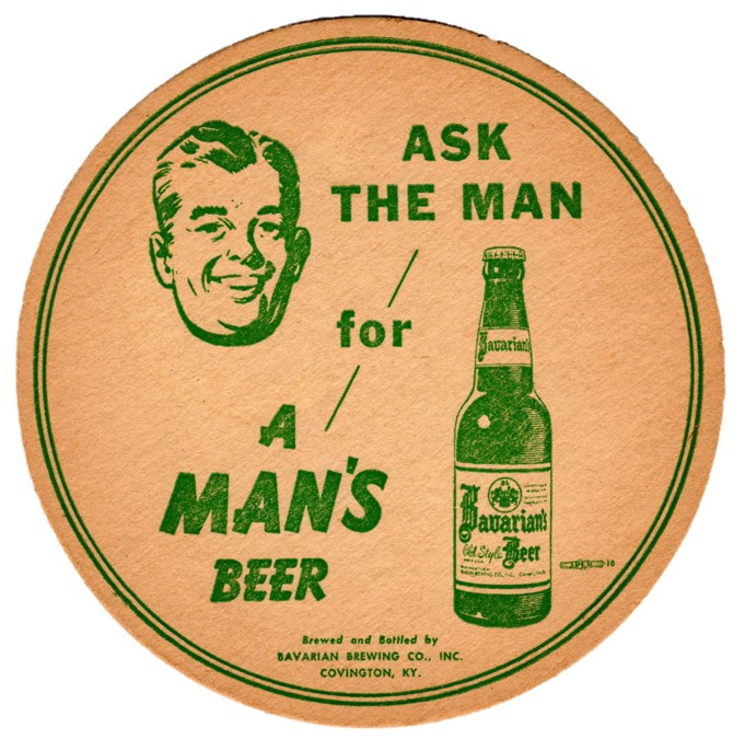Bavarian Lg Coaster A Mans Beer Green.jp