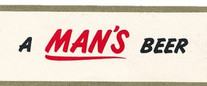 Bavarian Old Style A Mans Beer Neck Label