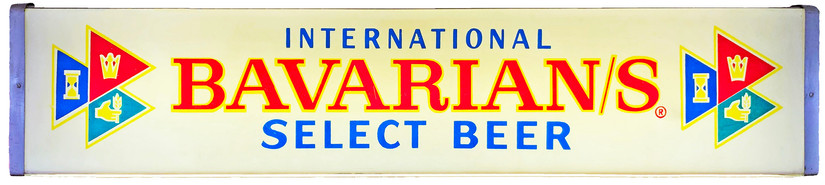Bavarian/s Select International Backlit Sign, International Breweries Inc., Detroit, MI.