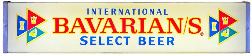 Bavarian/s Select International Backlit Sign, International Breweries Inc., Detroit, MI.