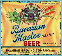 Bavarian Master Brand Label 1 Qt.  c. 19355 - 1940