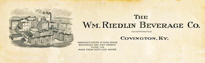 Bavarian 1919 Wm Riedlin Beverage Letter