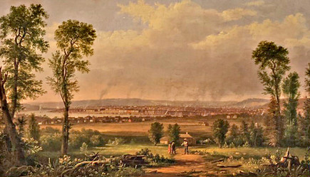 c. 1848. Painting by Robt. S. Duncanson  of Cincinnati from Covington, KY.