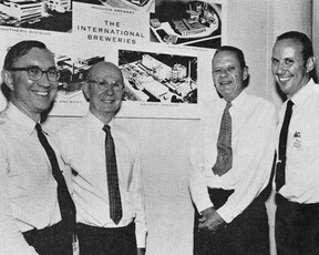 Former Executives of Bavarian Brewing Co., with the President of IBI.