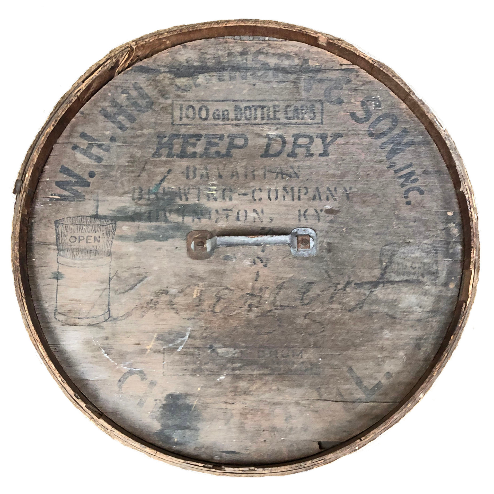 Bavarian Brewing Co., Covington, KY, Bottle Cap Container Lid.