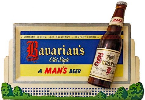 Bavarian's Old Style Beer Small Billboard Sign, Covington, KY.