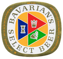 Bavarian/s Select Beer Ohio Label on Gold Foil 12 oz. 3.2 pct.